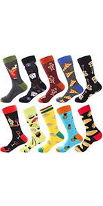 Food pattern Dress Socks Novelty Socks