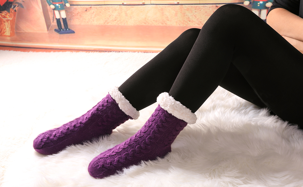 With Grippers Slipper Socks