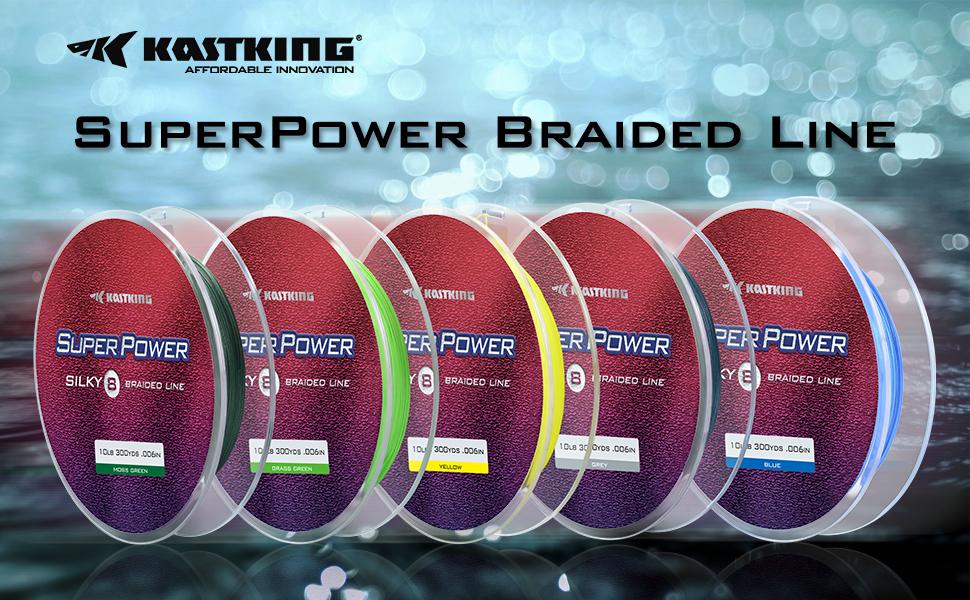 KastKing SuperPower Silky8 Braided Fishing Line