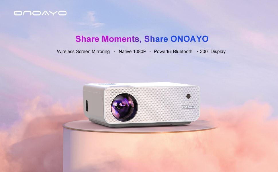 ONO1 Video Projector, Portable Projector, Home/Outdoor Projector