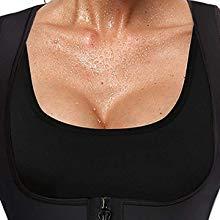 Waist Trainer Corset Neoprene Sweat Sauna Vest Zipper Weight Loss Tummy Control
