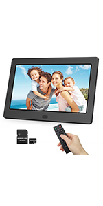 Definition Screen 10 inch 12 inch 13 inch 15 inch Widescreen Digital Photo Frame 1080P IPS Display USB and SD Card Slot and Remote Control