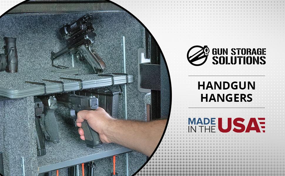 Gun Storage Solutions Handgun Hangers pistol storage racks