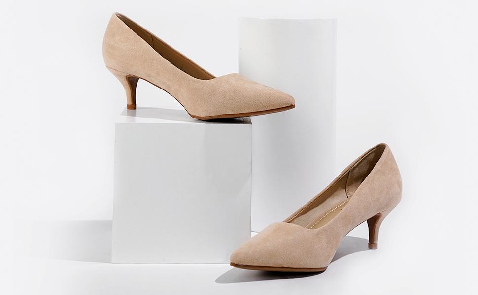 low heel pumps