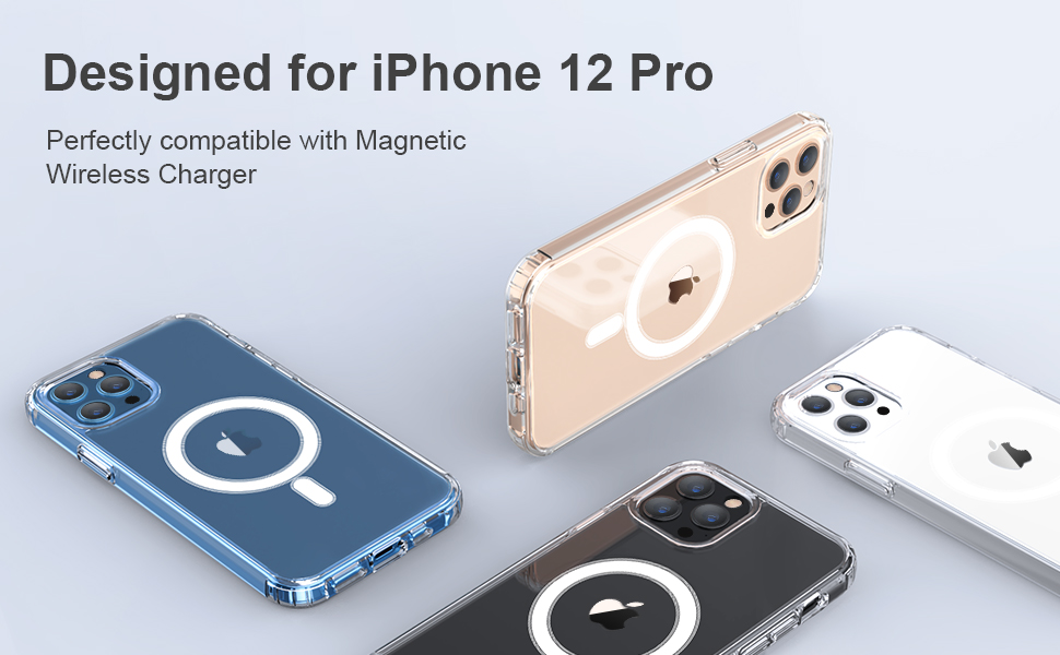 clear magnetic case for iphone 12
