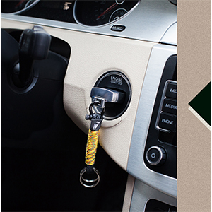 Men keychain from durable rope