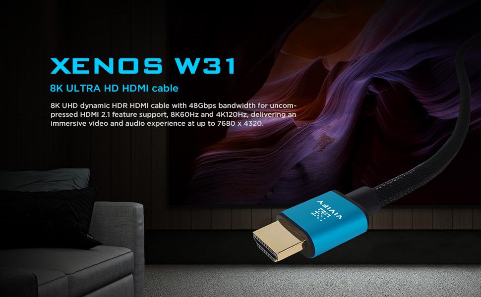 COPPER 8K HDMI 2.1 XENOS W31  HDCP 2.3 eARC DTS:X