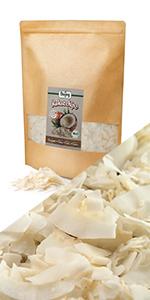kokoschips kokos chips gezonde snack knabbelen kokosmeel meel poeder kokosvlokken noot rauw brood