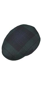 flat cap flatcap schirmmütze schiebermütze newsboy wintercap damen herren kariert schottisch