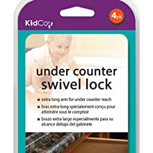 KidCo Under counter Swivel Lock long Child Safety disengage feature