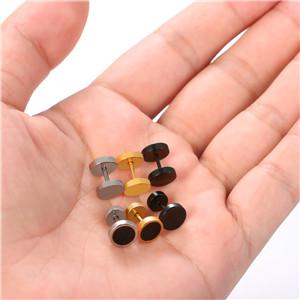 Aroncent Pendientes de Acero Inoxidable Quirúrgico para Oído Dumbbells Aretes de Perno Forma de Pesas para Hombre Mujer Unisex de Multicolor 8mm 10PCS