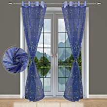 Navy Blue Sheer Curtains