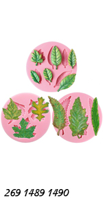 Assorted Leaf Molds Set 3-count