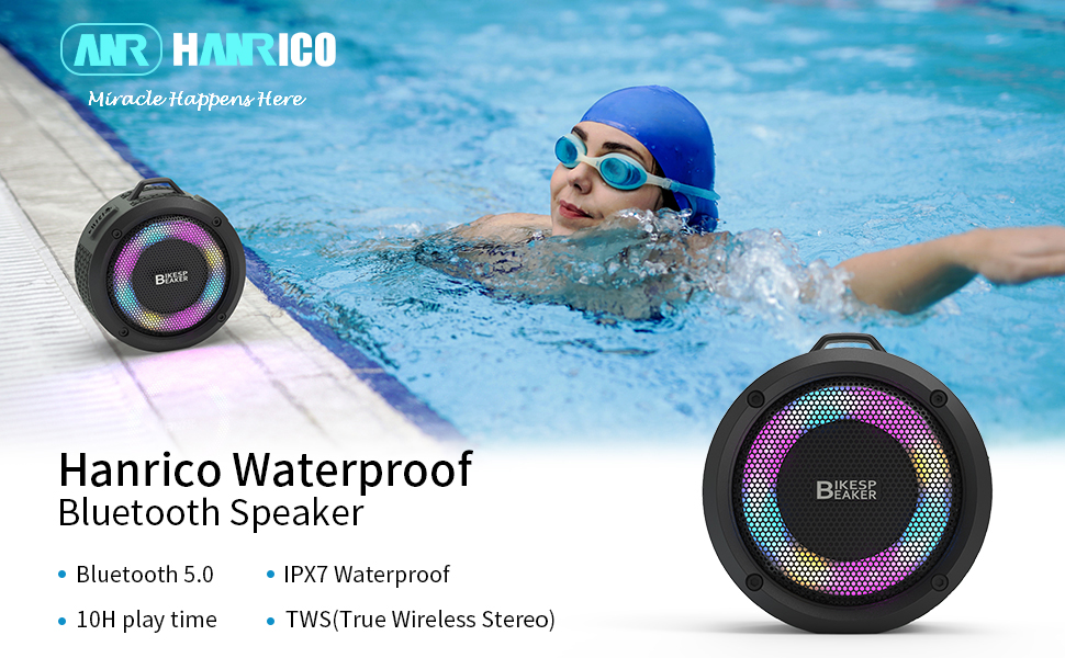 Shower waterproof bluetooth speaker