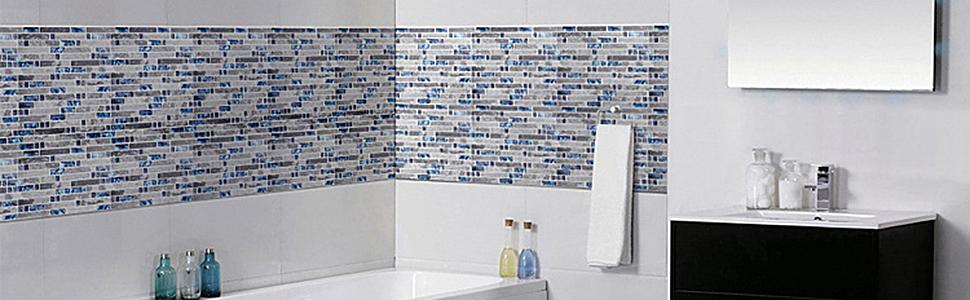 Marble tile for bathroom walls