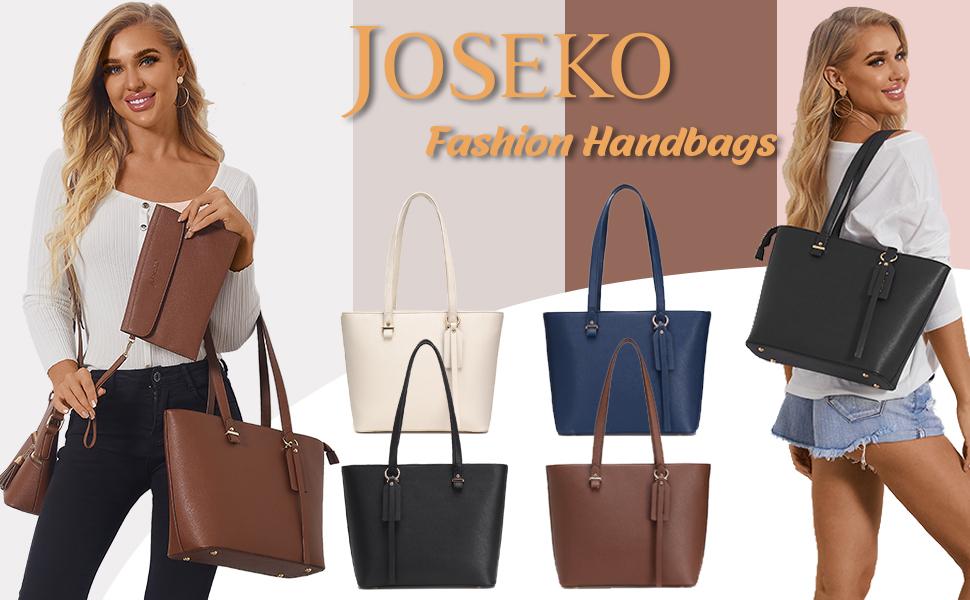 Handbags for Women, Satchel Hobo 3pcs Purse Set