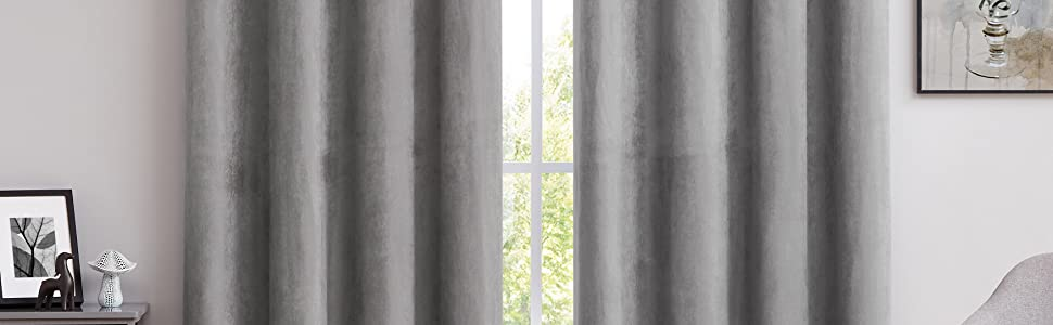 suede blackout curtain grey