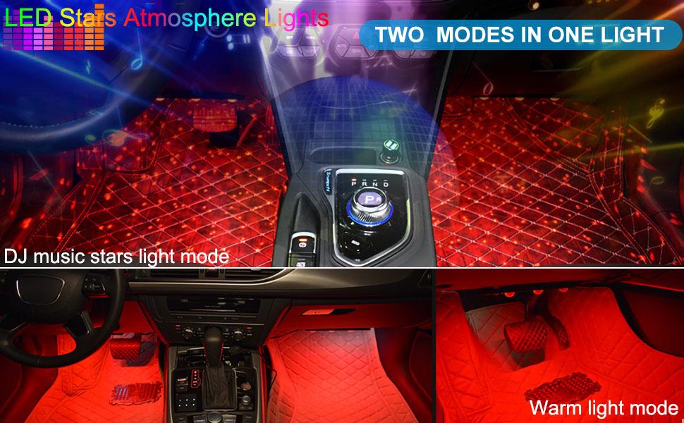 BukNikis 2 in 1 car interior atmosphere lights