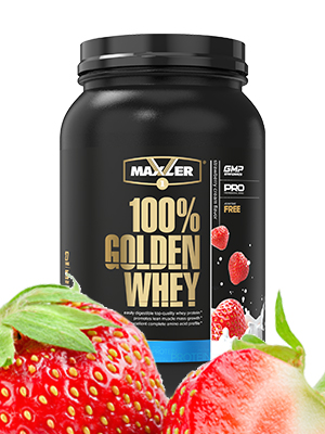 100% Golden Whey Protein Powder Intra- & Post-workout muscle recovery