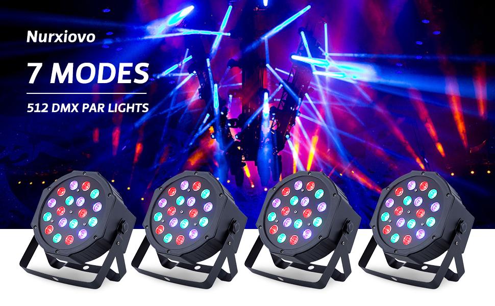 Flashandfocus.com ac9523d2-29f0-4802-839e-bcf7562c0d1e.__CR0,0,970,600_PT0_SX970_V1___ LED UP Lights, Nurxiovo Par Lights 18x1W DMX Stage Lights LED RGB Lighting with Sound Control 7 Channel for DJ, Party…
