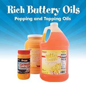 Rich Buttery Popcorn Oils for Popping and Topping
