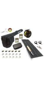 wild water fly fishing, 3/4 rod, 3 wt, 4 wt, 3 weight, 4 weight, 75mm CNC machined aluminum reel
