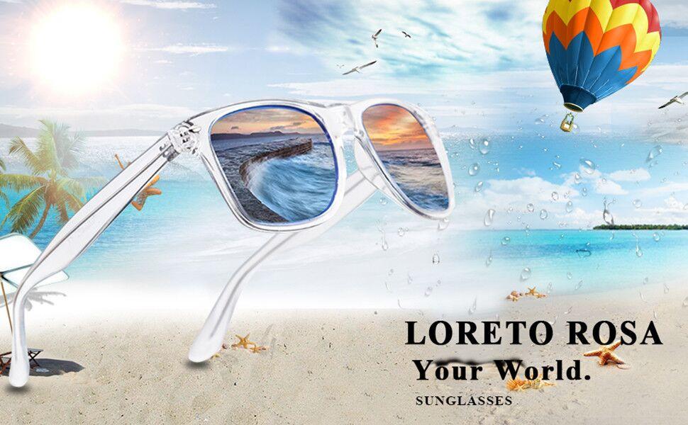 LR LORETO ROSA clear sunglasses for men