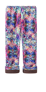 Girls Soft Fleece Lined Thick Leggings Colorful Prints Pants