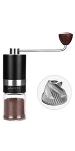 black hand coffee grinder