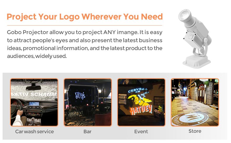 gobo projector outdoor logo light custom white