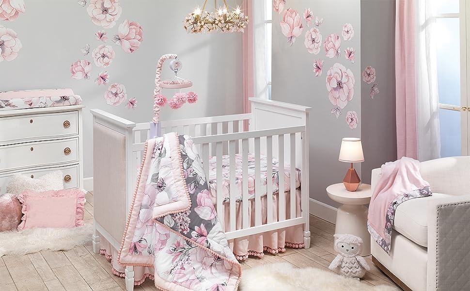 Botanical Baby Nursery with Crib Bedding Set