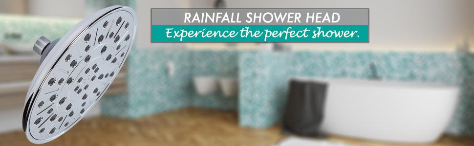 shower rain head, rainfall shower, shower head rainfall, waterfall showerhead, rain head