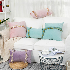 pillows decorative bed college dorm room toss princess girls set square aesthetic glitter rectangle