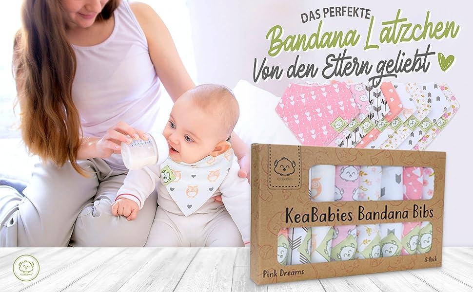 Baby Bandana Sabber-L/ätzchen f/ür M/ädchen Super saugf/ähiges Bandana-L/ätzchen aus Bio-Baumwolle Baby Sabber-L/ätzchen L/ätzchen f/ürs Zahnen Taschentuch-L/ätzchen f/ür S/äuglinge Kleinkinder
