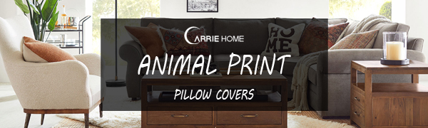 CARRIE HOME animal print pillow covers