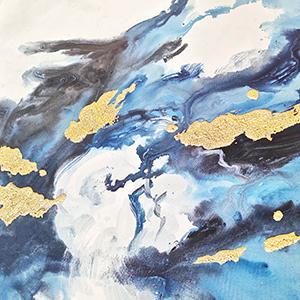 gold foil painting