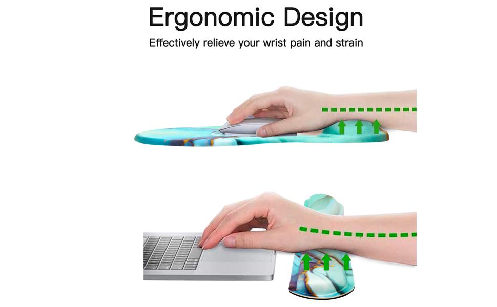 Ergonomic Memory Foam Mousepad and Wrist Support