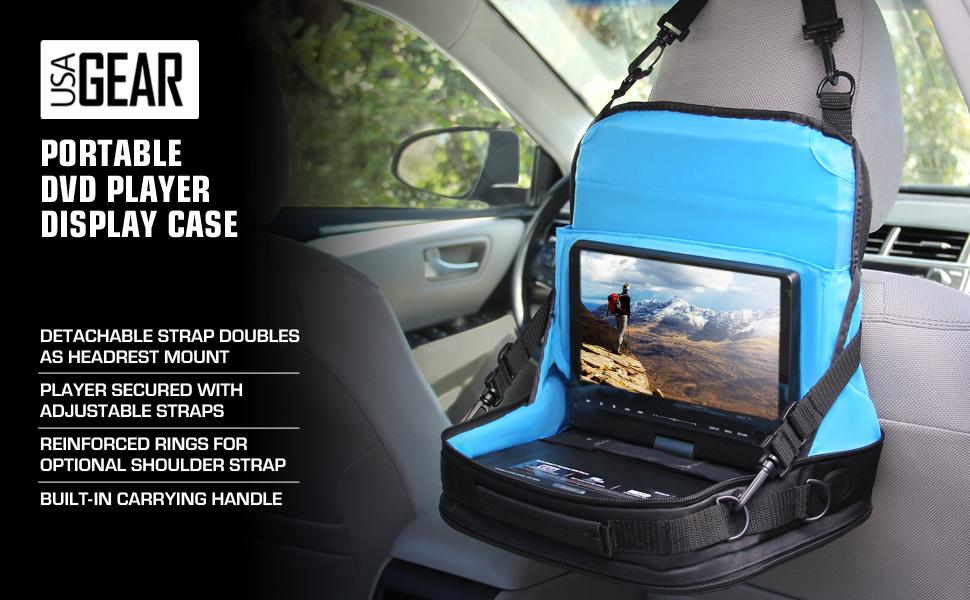 USA GEAR S11 Portable DVD Player Display Storage Case