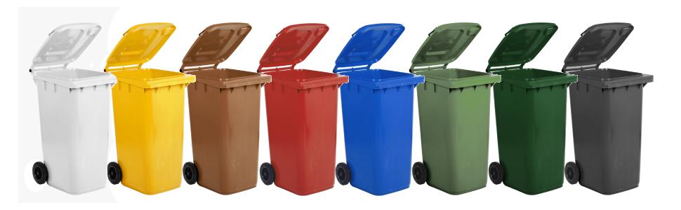 2 Tailor dei rifiuti box BASIC per 240 LITRI tonnellata//Punzone 6//antracite//grigio