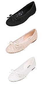 Feversole Womens Fashion Round Toe Ballet Flat,Ballerine /à Bout Rond pour Femme