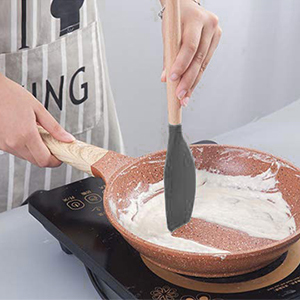 Wooden Handle Silicone Cooking Utensils