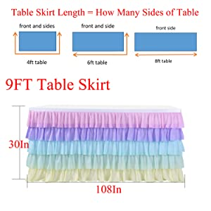 9ft unicorn tablecloth for rectangle round  tables