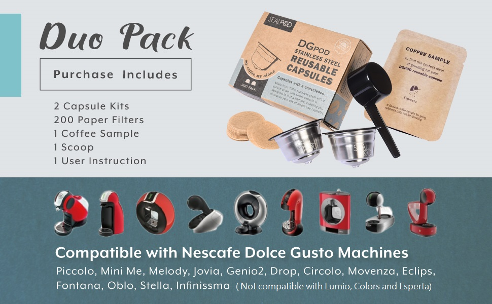 Duo Pack Purchase Includes