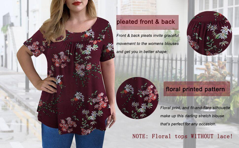 plus floral tops