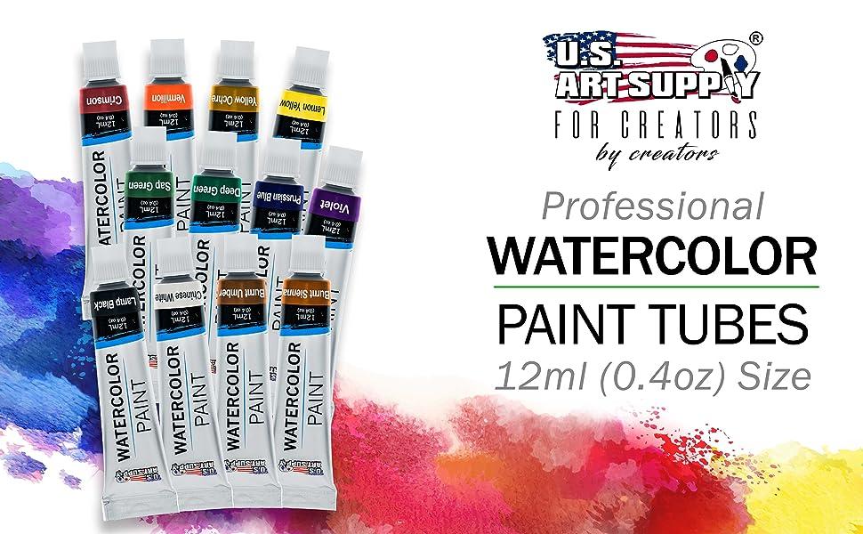 Professional Watercolor Paint Tubes