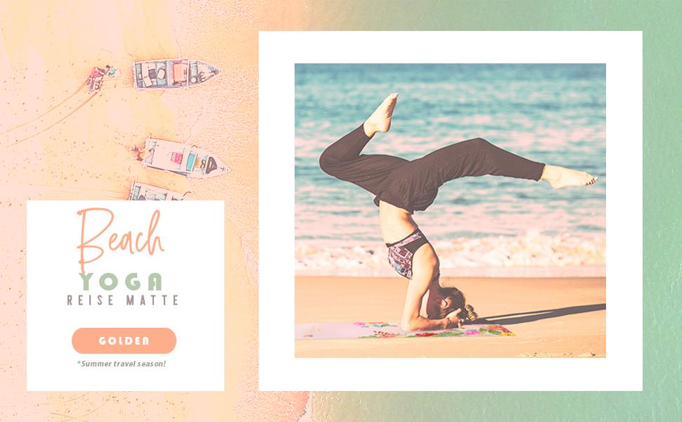 GOLDEN Esterilla de Yoga para Viajes, Plegable, Natural Caucho 1 ...