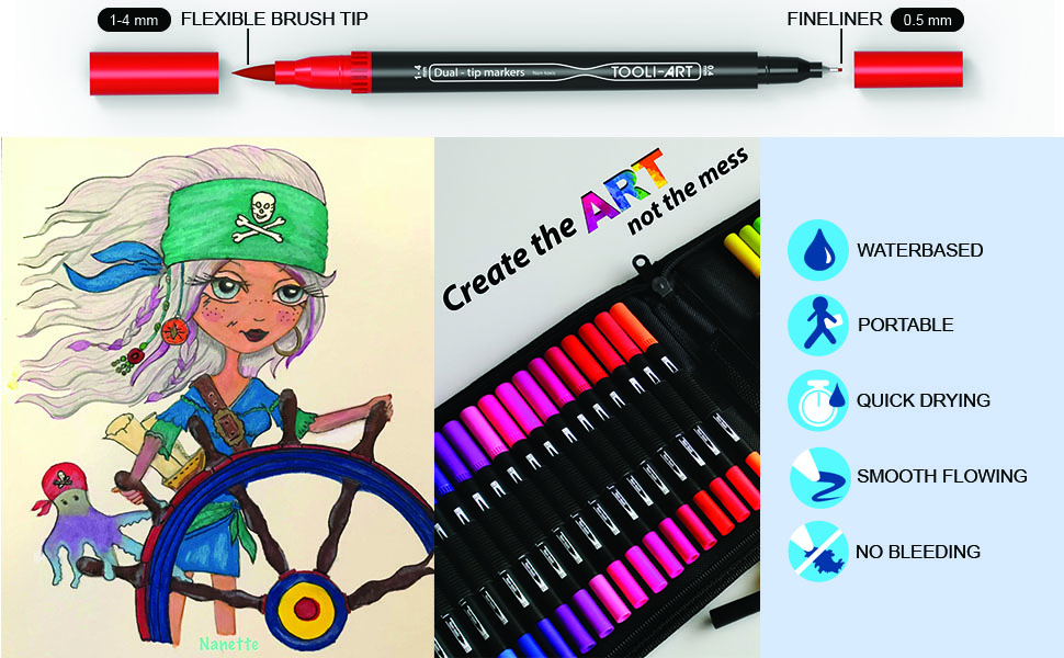 Coloring bright vivid colors waterbased quick drying opaque paint multi surface portable no bleeding