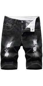 Men's Casual Ripped Denim Shorts Jeans Distressed Jeans Shorts Pants