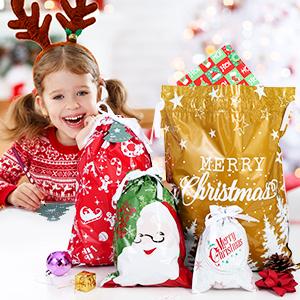 Christmas gift wrapping bags