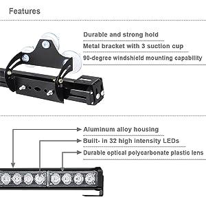 aluminum housing amber white flashing warning stick light